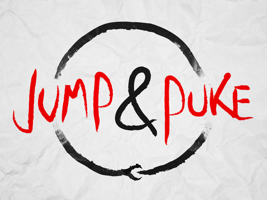 logo jump and puke