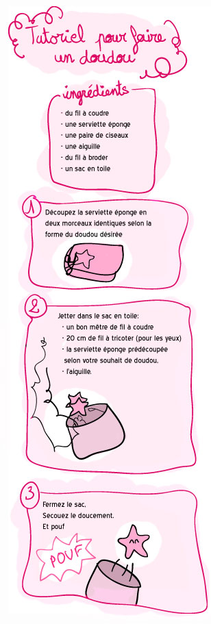 tutoriel comment faire un doudou deadly breakfast. Black Bedroom Furniture Sets. Home Design Ideas