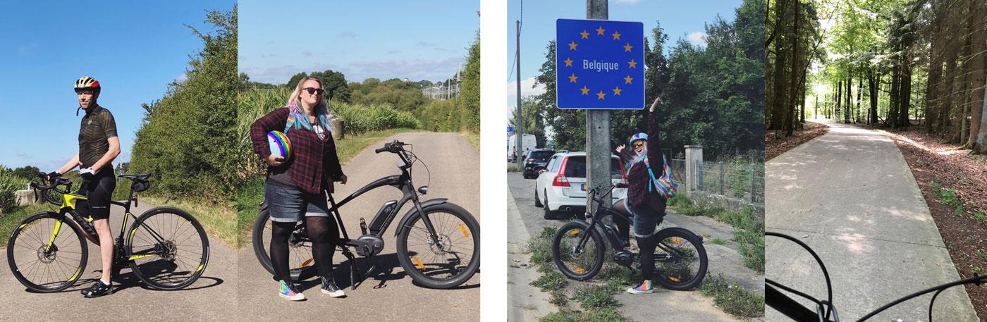 Photos souvenir de notre trajet avec biou pour aller en Belgique