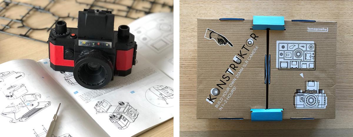 appareil photo Konstructor en plastique noir